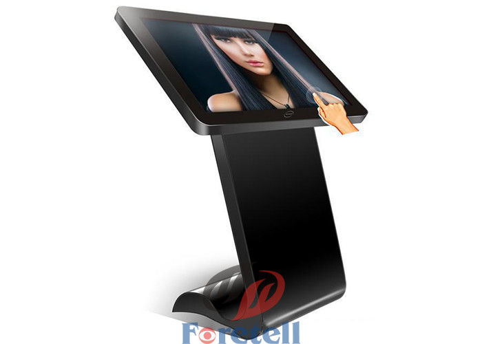 Wireless Ultra Thin 4K LCD Display 43 Inch Floor Standing Kiosk 4000 Contrast