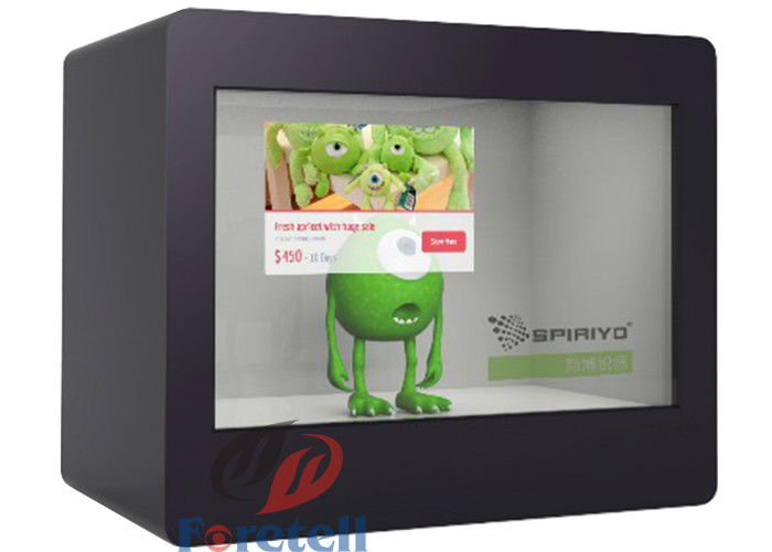 Tailored Software Multi Touch Transparent Display , Customize Size Transparent Display Box